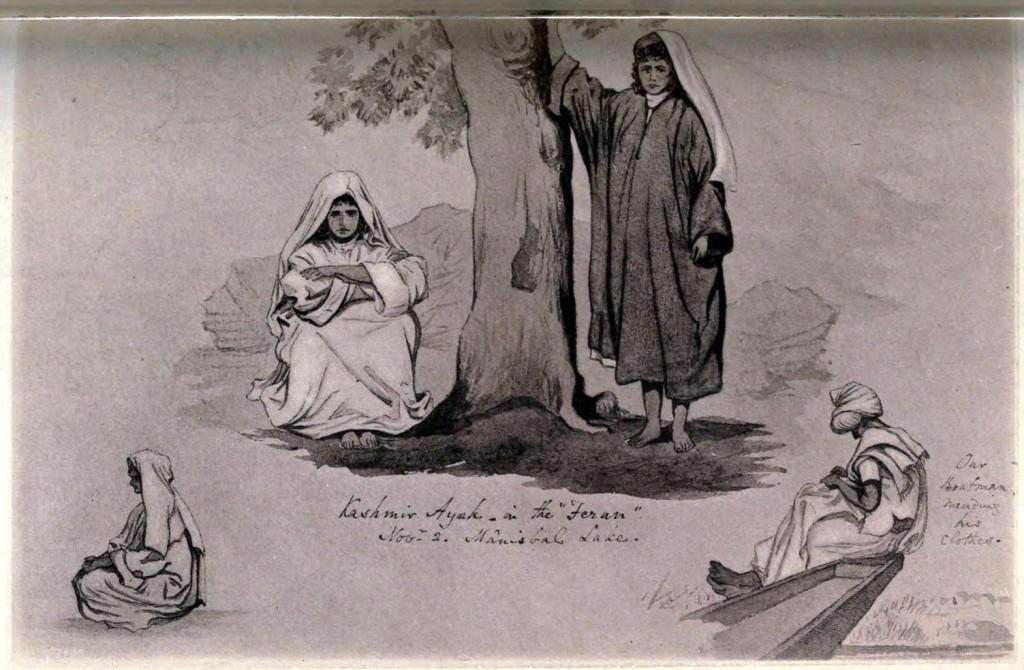 5 Kashmir illustrations, 1881